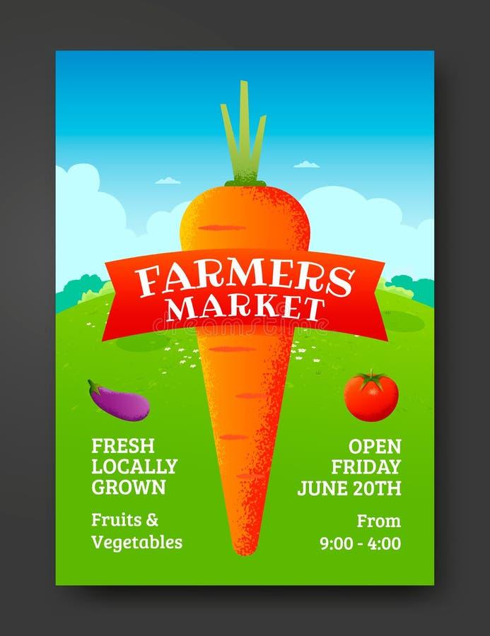 Landwirtmarktplakat lizenzfreie abbildung