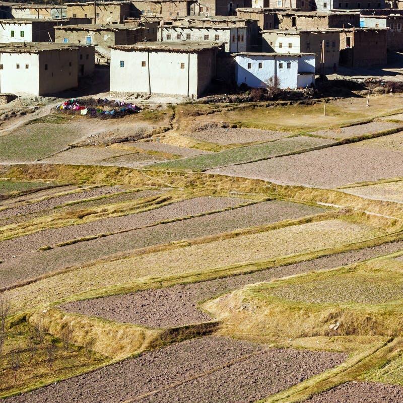 Landwirtschaft im marokkanischen Berberdorf stockfotos