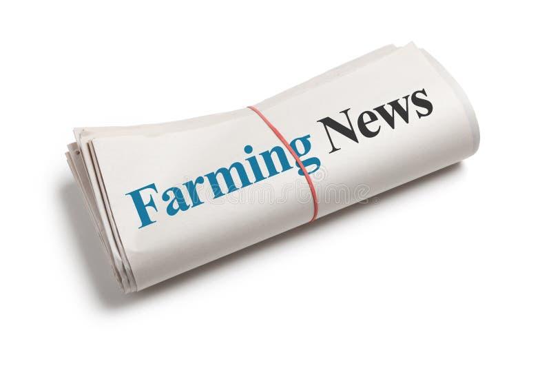 Landwirtschaft von Nachrichten lizenzfreie stockfotos