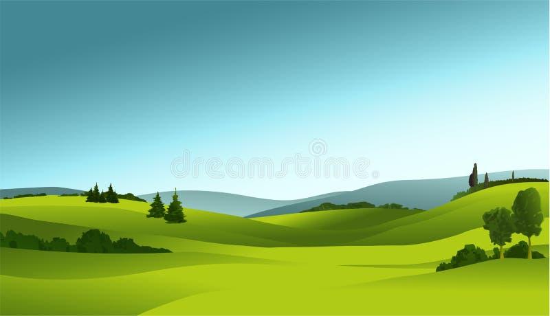 Landwirtschaftliche Landschaft stock abbildung