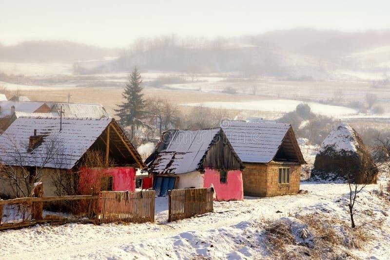 Landwirtschaftliche Landschaft in Rumänien stockfoto
