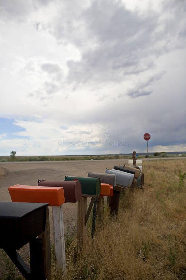 Landwirtschaftliche Mailboxes lizenzfreies stockfoto
