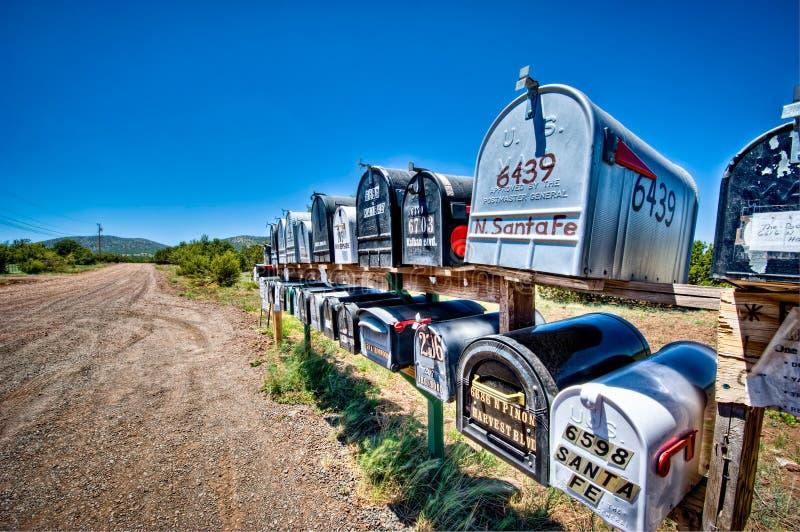 Landwirtschaftliche Mailboxes stockfotos