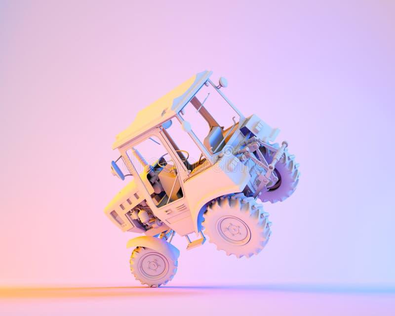 Landwirtschaftlicher generischer Traktor lizenzfreie abbildung