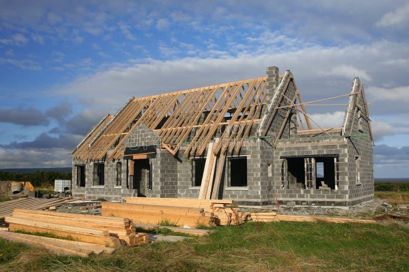Landwirtschaftlicher Haus-Bau lizenzfreie stockfotos