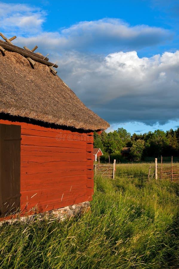 Landwirtschaftliches Schweden stockfoto