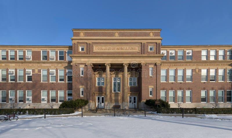 Landwirtschafts-Gebäude an der Universität von Illinois lizenzfreie stockfotografie