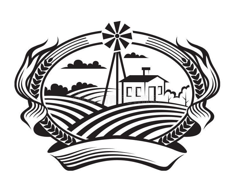 Landwirtschaftslandschaft Stockfotografie