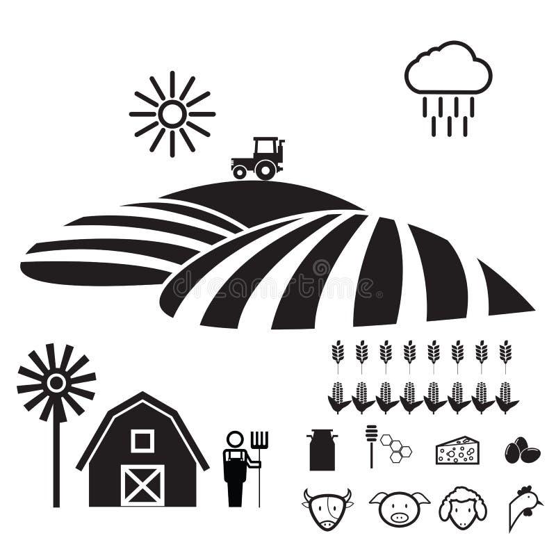 Landwirtschaftslebensstil stock abbildung