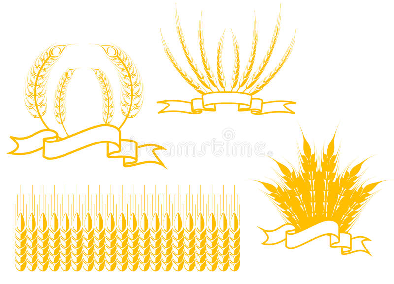 Download Landwirtschaftssymbole vektor abbildung. Illustration von mais - 12201364