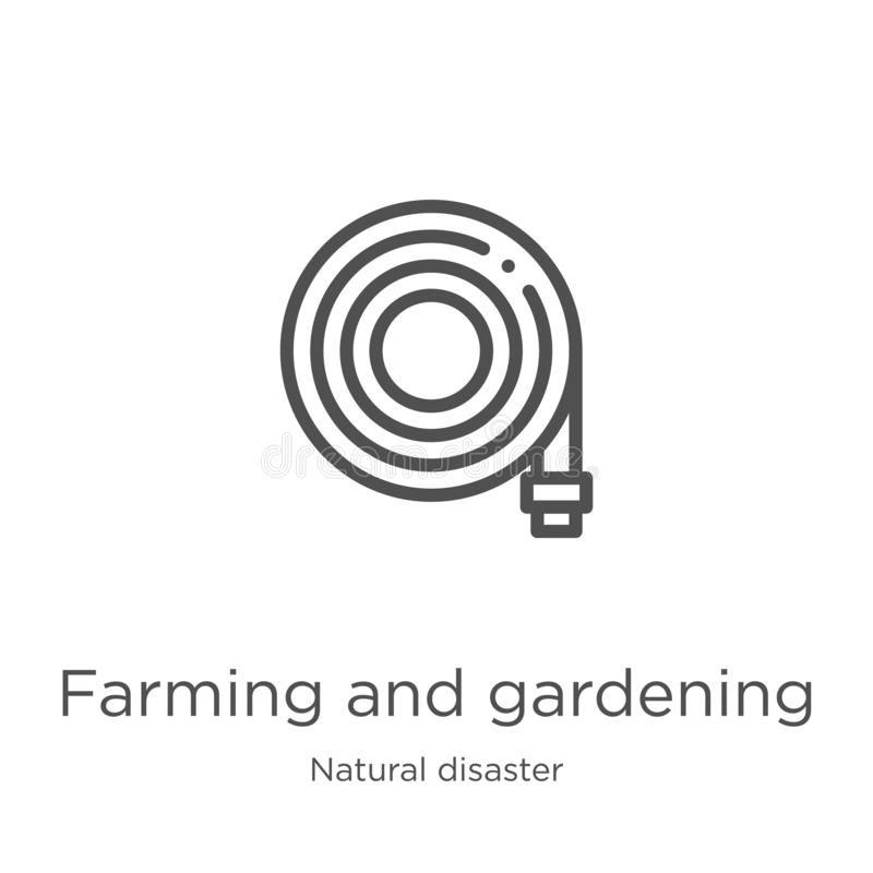 Landwirtschaftsund Gartenarbeitikonenvektor von der Naturkatastrophesammlung Landwirtschaftsund Gartenarbeitentwurfsikonenvektor  vektor abbildung