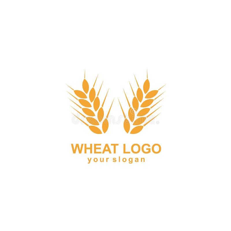 Landwirtschaftsweizen Logo Template-Vektorikonendesign lizenzfreie abbildung