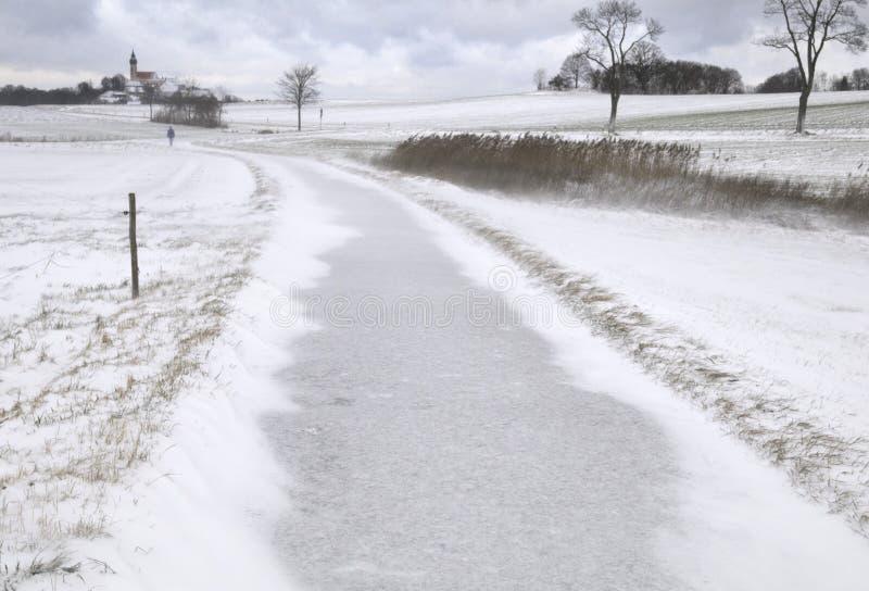 Download Lane across wintry field stock image. Image of frigid - 7412635