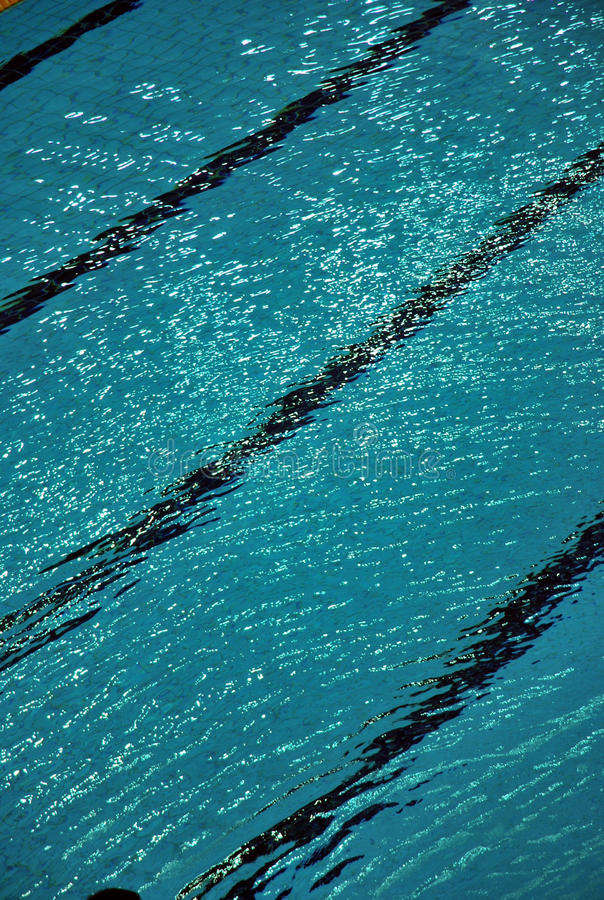 Lane Lines Of A Swimming Pool Stock Image Image Of