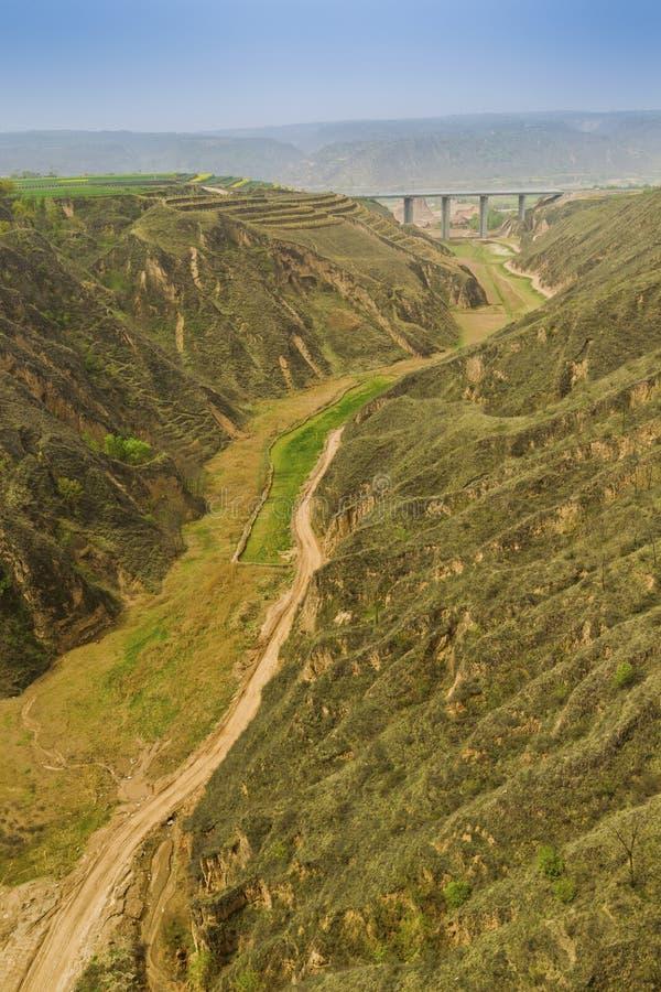 Download Lane Between Mountain Bridge Stock Photo - Image: 28395500