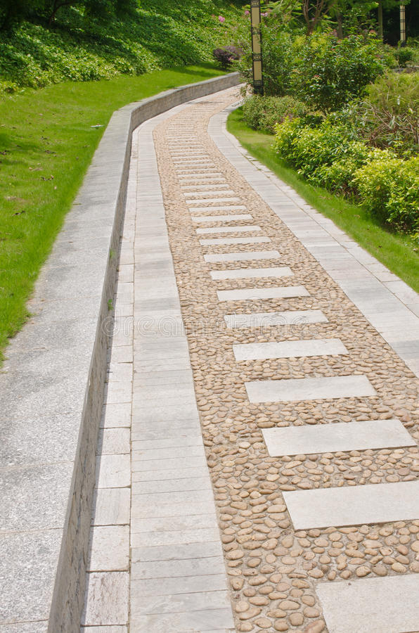 Lane. Residential use a slate-paved road royalty free stock image
