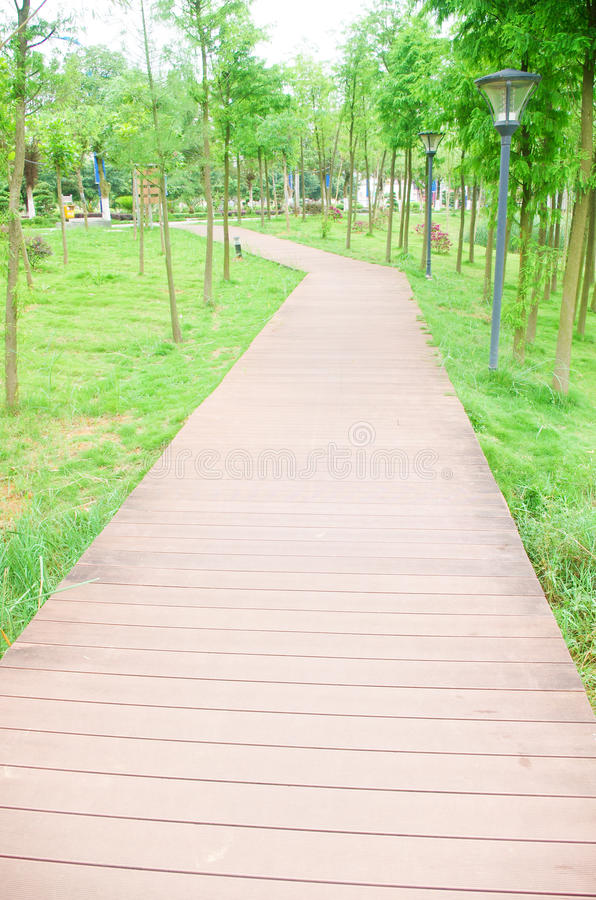 Lane. Residential use a wood-paved road royalty free stock images