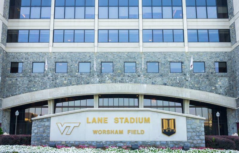 Lane Stadium imagem de stock