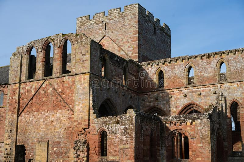 Lanercost Priory. Was founded by Robert de Vaux between 1165 and 1174, to house Augustinian Canons. It is situated at the village of Lanercost, Cumbria, England royalty free stock photography