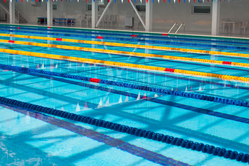 swimming pool lane lines background. Download Lanes Of A Competition Swimming Pool Stock Image - Clean, Background: Lane Lines Background