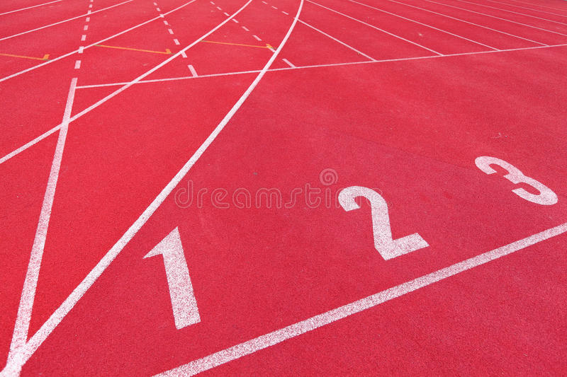 Download Lanes of running track stock photo. Image of first, athlete - 24677470