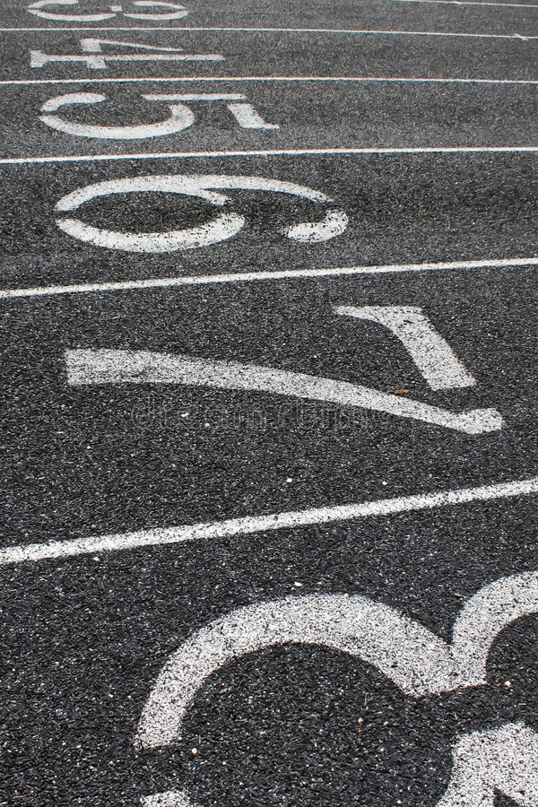 Lanes on Track Field royalty free stock image