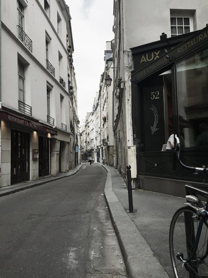 Laneway a Parigi fotografia stock