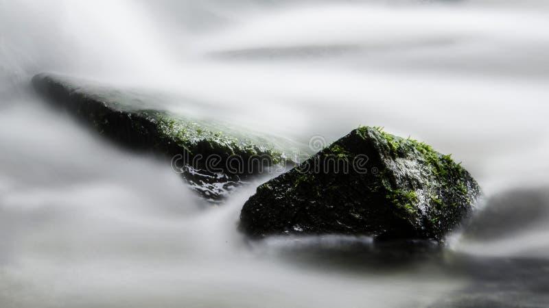 Lang blootstellingswater stock foto's