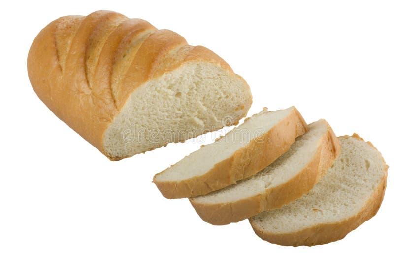 Lang brood gesneden brood royalty-vrije stock afbeeldingen
