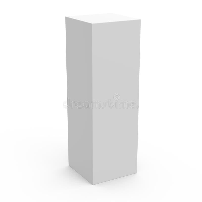 Lang de doosmodel van het doosmalplaatje stock illustratie
