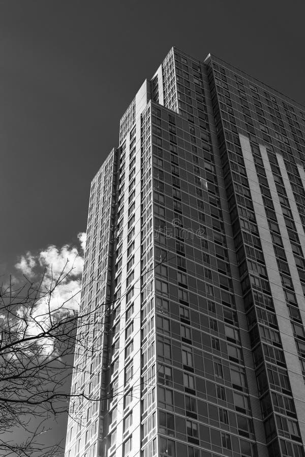 Lang de Stadsflatgebouw van New York, Brooklyn Van de binnenstad, NY de V.S. royalty-vrije stock afbeelding