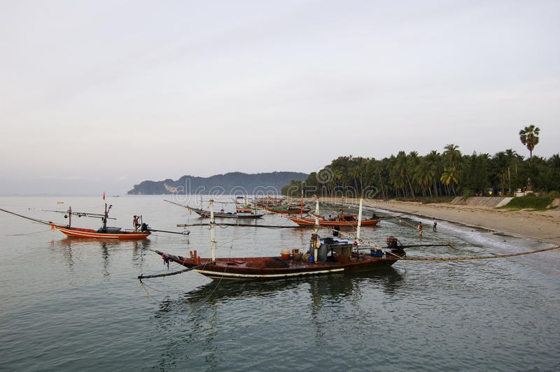 Lang-Hecks Boote in Thailand stockfoto