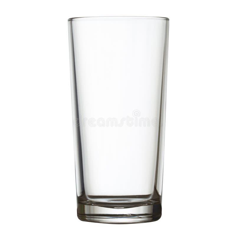 Lang leeg glas op witte w het knippen weg stock foto's