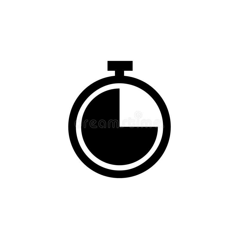 Lang schaduwontwerp De Vector van het klokpictogram stock illustratie