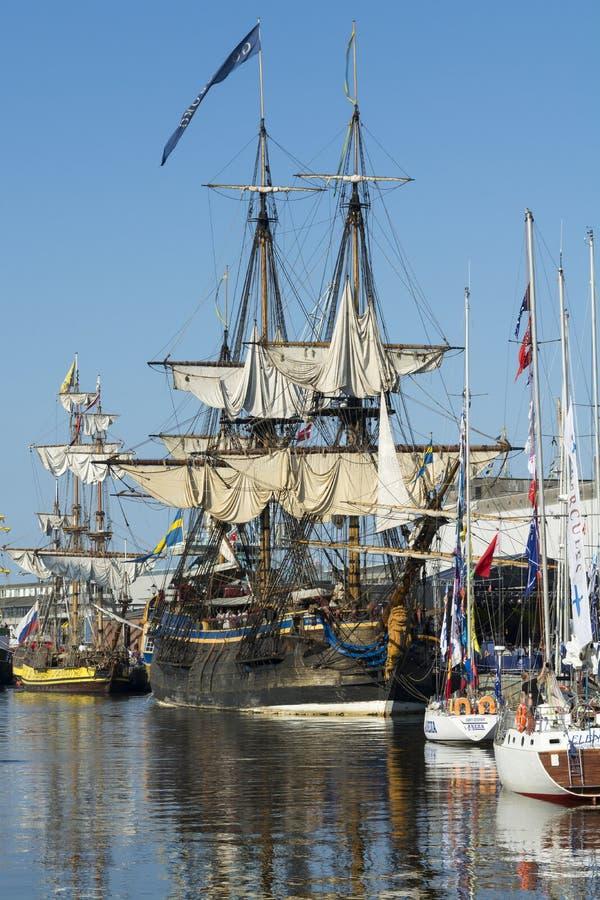 Lang schip vastgelegde Gotheborg royalty-vrije stock afbeeldingen