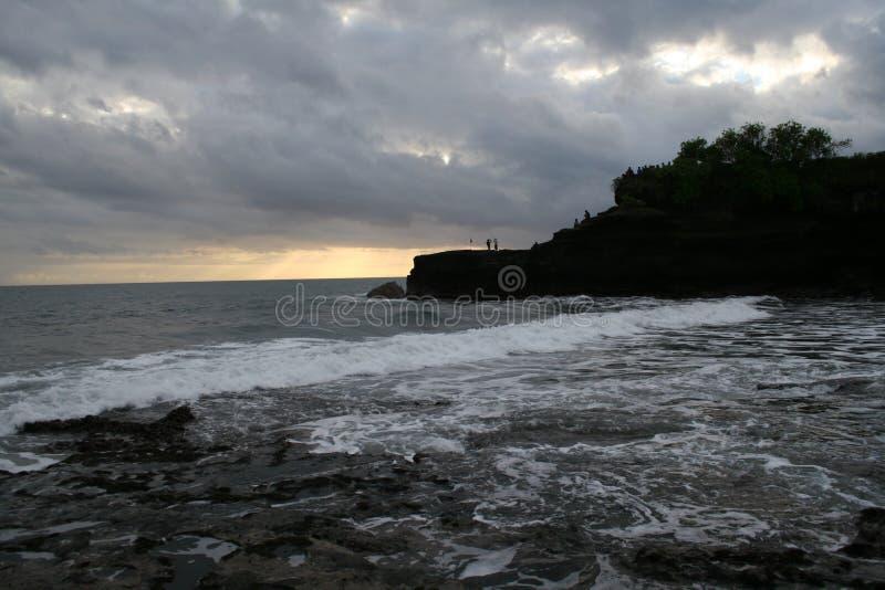 Lang strand bij tanahpartij stock fotografie
