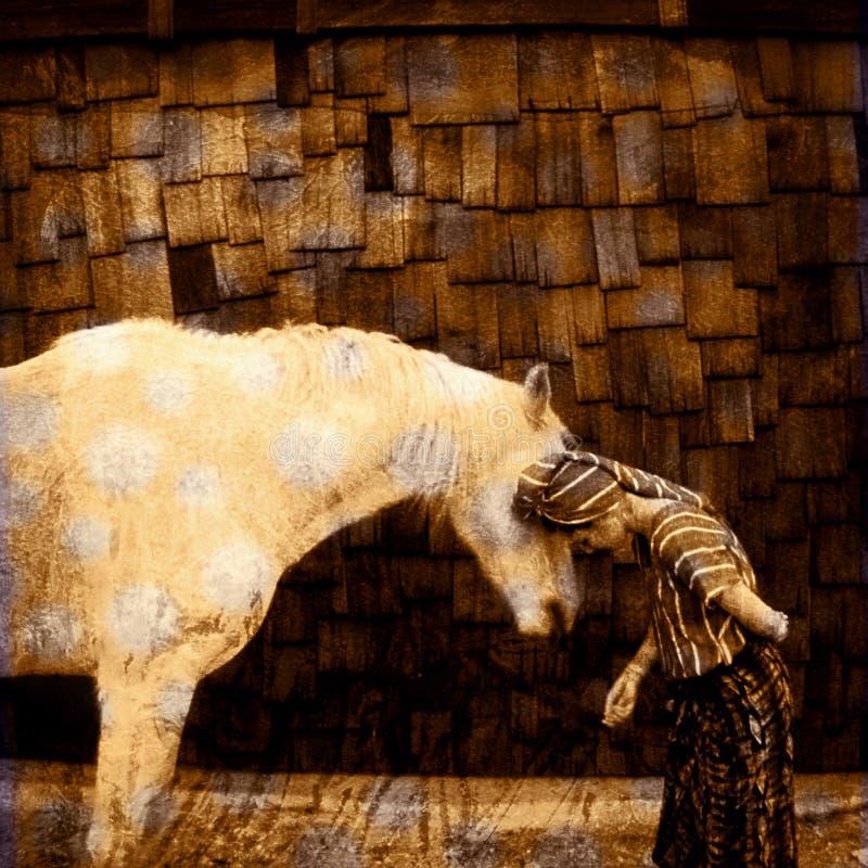 Langage de cheval illustration libre de droits