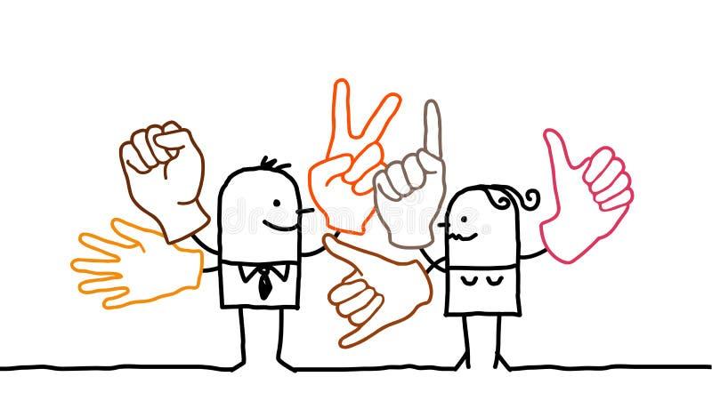 Langage de signe illustration libre de droits