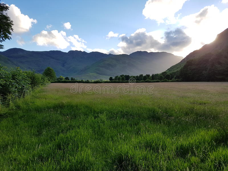 Langdale. The head of the Langdale Valley in the Lake District National Park stock photos