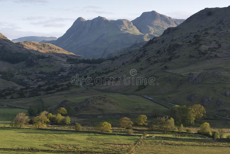 Langdale Pikes through the gap royalty free stock images