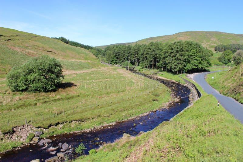 Langden bäck, ho av Bowland, Lancashire royaltyfri foto