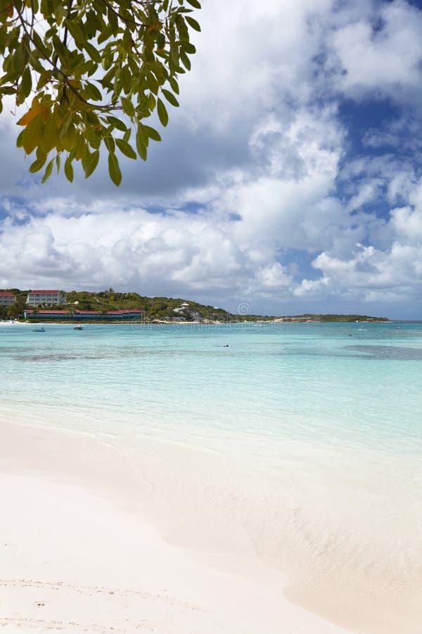 Lange Baai, Antigua stock afbeeldingen