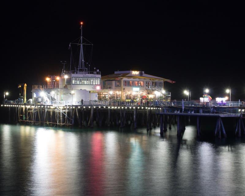 Lange Belichtung der Promenade nachts lizenzfreies stockbild