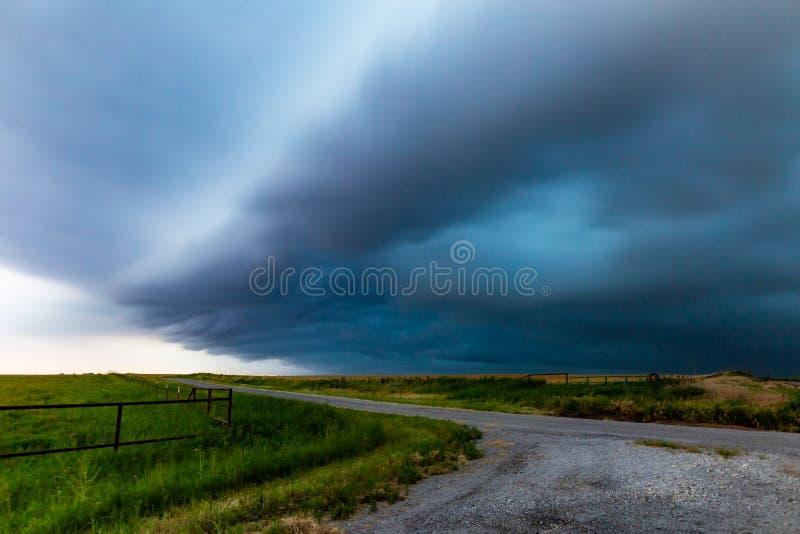 Lange Belichtung des Sturms in Nord-Texas lizenzfreie stockfotos