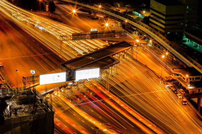 Lange Belichtung des Turnpike lizenzfreie stockbilder