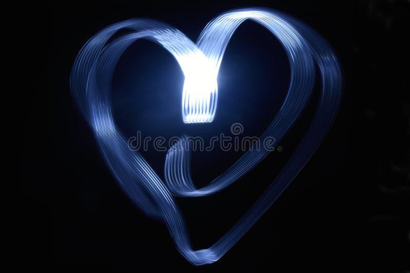 Lange Belichtung eines Herzanschlags stock abbildung