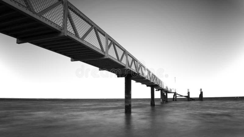 Lange Belichtung von einer Anlegestelle Stradbroke-Insel Australien stockbilder