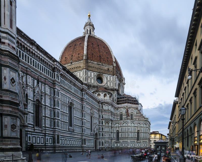 Lange Belichtung von Florence Cathedral stockbild