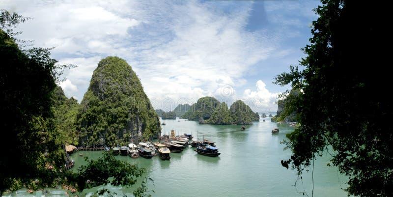 Lange Bucht schöner Seegolf ha, Vietnam stockfotografie