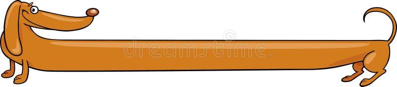 Lange Dachshundhundekarikaturabbildung stock abbildung